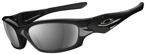 Oakley Straight Jacket Sunglasses - Black / Iridium Polarized