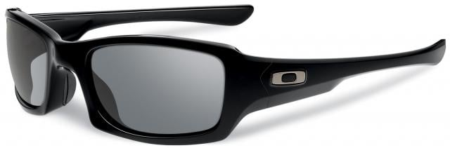 Oakley Fives Squared Sunglasses - Polished Black / Grey