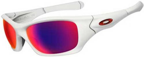 Oakley Pit Bull Sunglasses - Matte White / OO Red Iridium Polarized