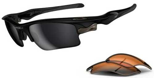 Oakley Fast Jacket XL Sunglasses - Polished Black / Black Iridium