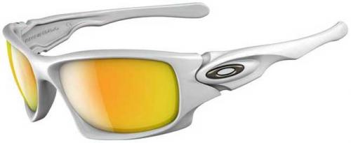 Oakley Ten Sunglasses - White Chrome / Fire Iridium