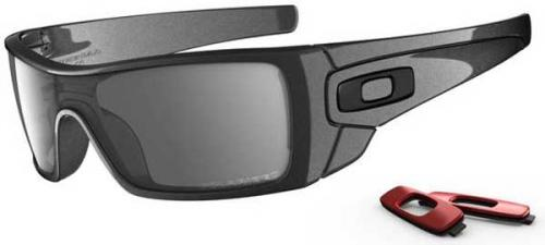 Oakley Batwolf Sunglasses - Granite / Black Iridium Polarized