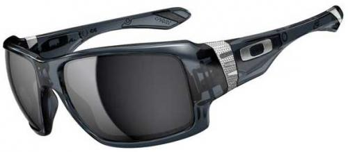 Oakley Big Taco Sunglasses - Crystal Black / Black Iridium