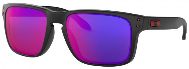 Oakley Holbrook Sunglasses - Matte Black / Positive Red Iridium