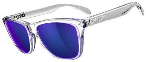 Oakley Frogskins Sunglasses - Polisher Clear / Violet Iridium
