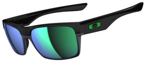 Oakley TwoFace Sunglasses - Polished Black / Jade Iridium