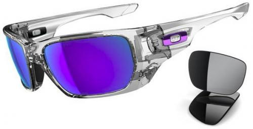 Oakley Style Switch Sunglasses - Polished Clear / Violet Iridium