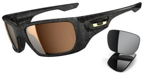 Oakley Style Switch Sunglasses - Polished Black / Gold / Tungsten Iridium