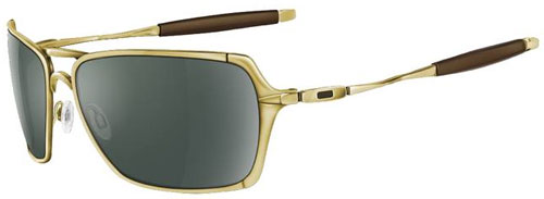 oakley inmate sunglasses polished gold dark grey