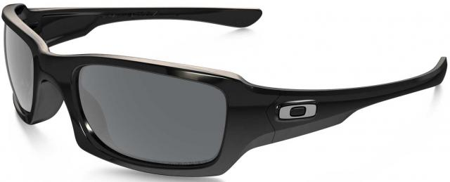 Oakley Fives Squared Sunglasses - Polished Black / Black Iridium Polar