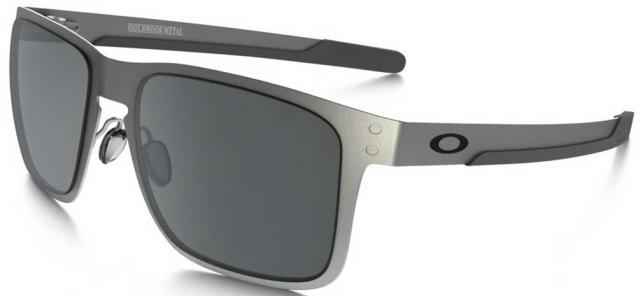 Oakley Holbrook Metal Sunglasses - Satin Chrome / Black Iridium