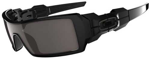 Oakley Oil Rig Sunglasses - Polished Black / Warm Grey
