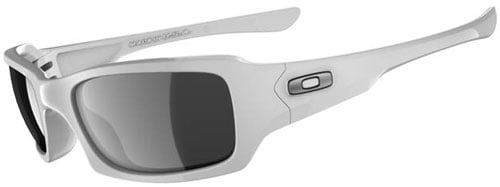 Oakley Fives Squared Sunglasses - Polished White / Black Iridium