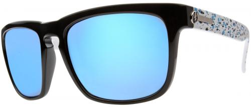 Electric Knoxville Sunglasses - Powder Splatter / Blue Chrome