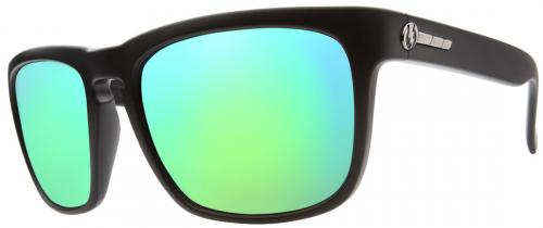 Electric Knoxville Sunglasses - Matte Black / Green Chrome