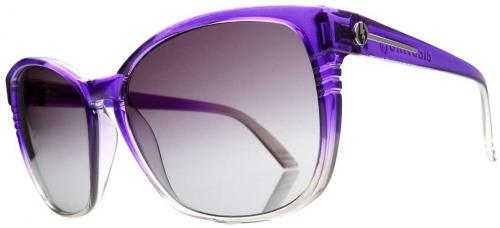 Electric Rosette Sunglasses - Purple Smoke Fade / Grey Gradient