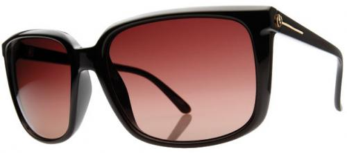 Electric Venice Sunglasses - Gloss Black / Brown Gradient