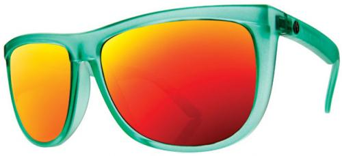 Electric Tonette Sunglasses - Apple Green / Grey Fire Chrome