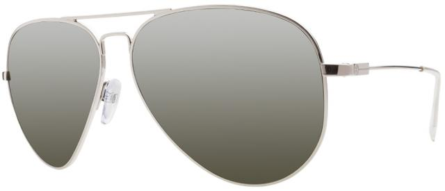 Electric AV1 Large Sunglasses - Platinum / Melanin Grey Silver Chrome
