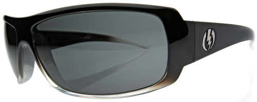 Electric Charge Sunglasses - Black Clear Fade / Grey