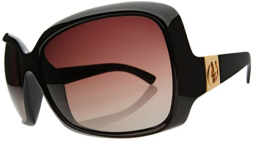 Electric Velveteen Sunglasses - Black Gloss / Brown Gradient