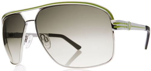Electric Vegus Sunglasses - Platinum Green / Grey Chrome