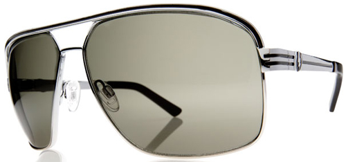 Electric Vegus Sunglasses - Platinum Black / Grey Chrome