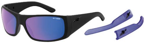 Arnette Change Up Sunglasses - Fuzzy Black / Purple Mirror