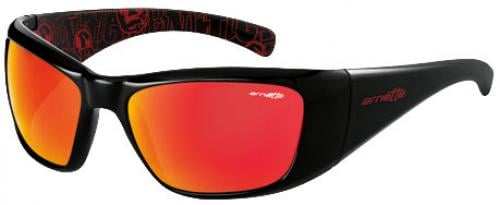 Arnette Rage XXL Sunglasses - Gloss Black / Red Mirror