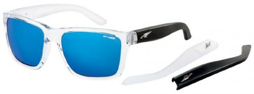 Arnette Witch Doctor Sunglasses - Gloss Clear / Blue Mirror