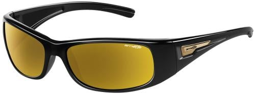 Arnette Hold Up Sunglasses - Gloss Black / Gold Mirror