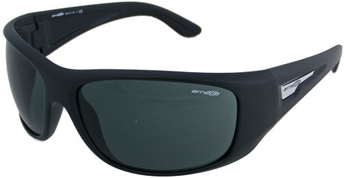 Arnette Heist Sunglasses - Matte Black / Grey Green