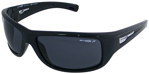 Arnette Wolfman Sunglasses - Gloss Black / Grey