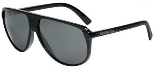 Quiksilver The Heat Sunglasses - Shiny Black / Grey