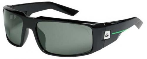 Quiksilver Cruise Sunglasses - Shiny Black / Ocean Polarized