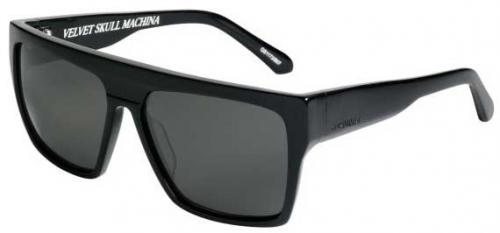 Quiksilver Jail Tatt Sunglasses - Shiny Black / Grey