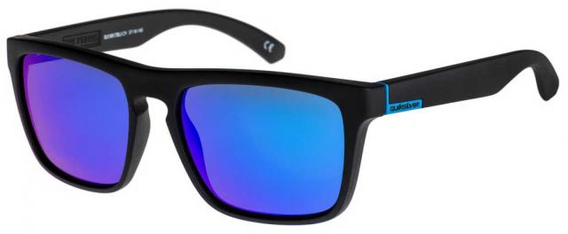Quiksilver The Ferris Sunglasses - Matte Black / Blue