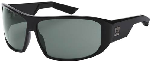 Quiksilver Pulse Sunglasses - Shiny Black / Grey