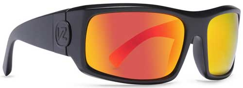Von Zipper Kickstand Sunglasses - Black Satin / Lunar Chrome