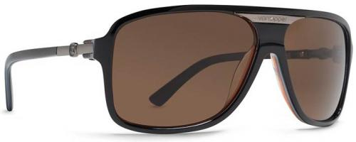 Von Zipper Stache Sunglasses - Black Amber / Bronze