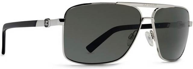 Von Zipper Metal Stache Sunglasses - Silver / Grey