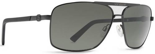 Von Zipper Metal Stache Sunglasses - Black Satin / Grey