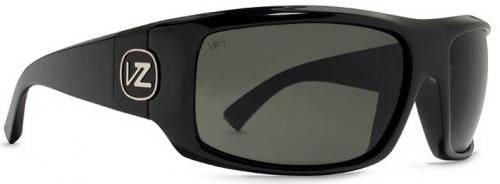 Von Zipper Clutch Sunglasses - Black Gloss / Grey Melanin Polarized
