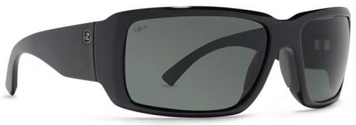 Von Zipper Drydock Sunglasses - Black Gloss / Grey Meloptics Polarized