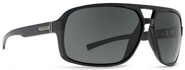 Von Zipper Decco Sunglasses - Black Gloss / Grey