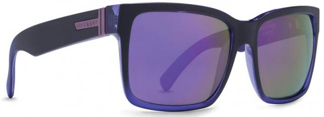 Von Zipper Elmore Sunglasses - Black Purple Pow Pow / Meteor Glo
