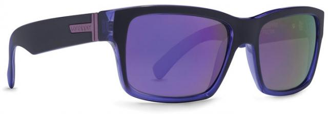 Von Zipper Fulton Sunglasses - Black Purple Pow Pow / Meteor Glo