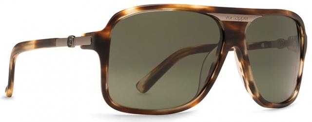 Von Zipper Stache Sunglasses - Tortoise Satin / Grey