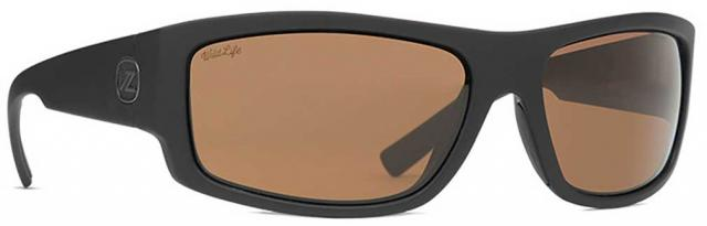 Von Zipper Semi Sunglasses - Black Soft Satin / Wildlife Bronze Polar