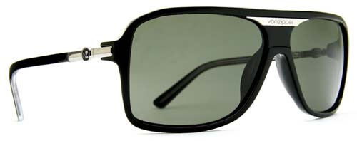 Von Zipper Stache Sunglasses - Black Gloss / Grey
